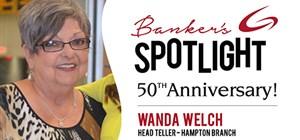 Banker's Spotlight - Wanda Welch - Celebrating 50 years!