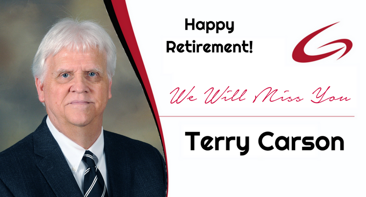 Happy Retirement Terry Carson!