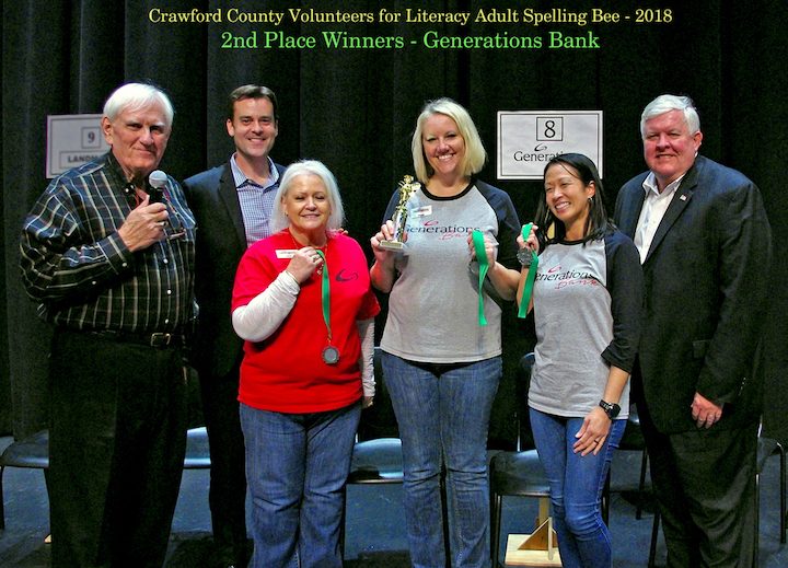 Van Buren Branch Participates in Crawford County Volunteers for Literacy Adult Spelling Bee