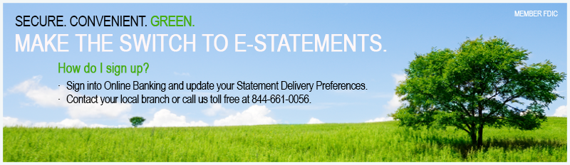 Enroll in E-Statements